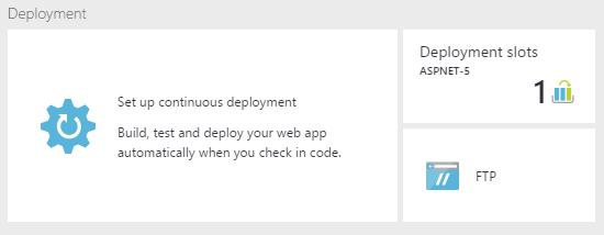 Continuous deployment setup